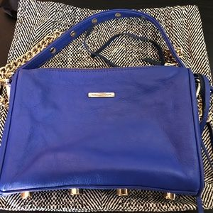 Blue Rebecca Minkhoff Mini 5 Zip Crossbody Bag